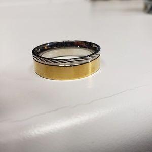 Men's metal ring